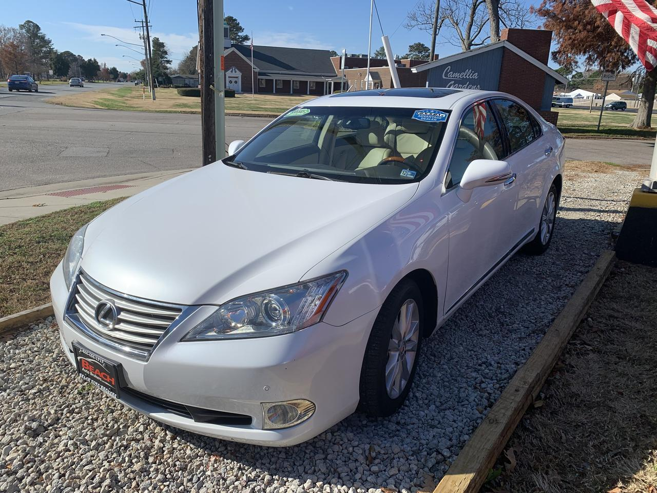 2011 LEXUS ES350 WARRANTY, LEATHER, REMOTE START, SUNROOF, NAV, BLUETOOTH, HEATED/COOLED SEATS, 1 OWNER! Norfolk VA
