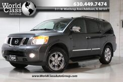 2011_Nissan_Armada_Platinum - AWD WOODGRAIN INTERIOR POWER HEATED LEATHERS SEATS SUN ROOF HEATED STEERING WHEEL NAVIGATION BACKUP CAMERA PARKING SENSORS DUAL ZONE CLIMATE CONTROL REAR CLIMATE CONTROL POWER FOLDING THIRD ROW SEATING POWER LIFT GATE REAR ENTERTAINMENT SY_ Chicago IL