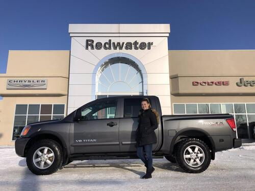 2011_Nissan_Titan_PRO-4X V8 - Full Leather - Sunroof - Auto Trans - One Owner_ Redwater AB