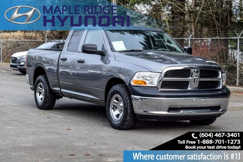 2011 Ram 1500 4WD Quad Cab 140.5 ST Truck Bed Storage Box, Keyless Entry, 6 Passenger Maple Ridge BC