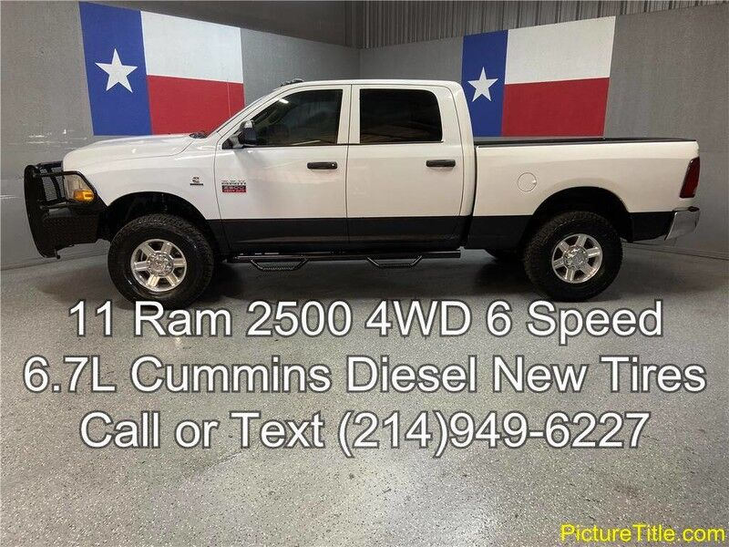 2011 Ram 2500 2011 SLT 2500 4WD 6 Speed Goose Neck New 35in Tires Arlington TX