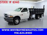 2011 Ram 3500 ~ 12ft. Stake Bed ~ Only 18K Miles!