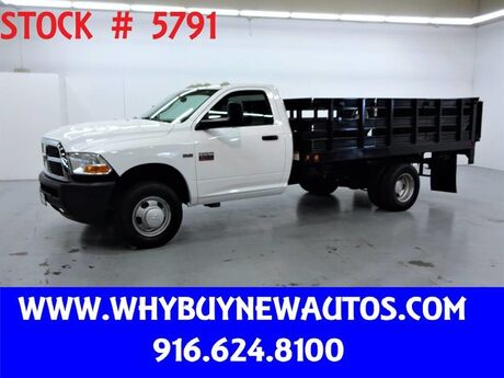 2011 Ram 3500 ~ Liftgate ~ 12ft Stake Bed ~ Only 37K Miles! Rocklin CA
