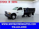 2011 Ram 3500 ~ Liftgate ~ 9ft Stake Bed ~ Only 28K Miles!