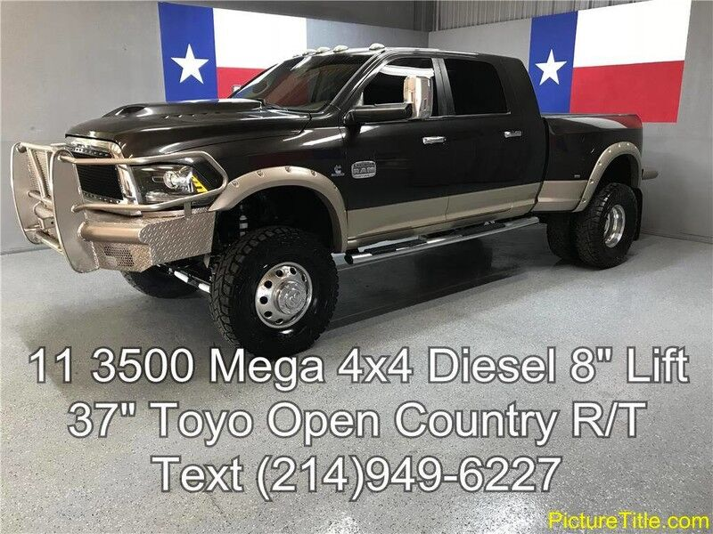 2011 Ram 3500 2011 Laramie 4WD Mega 6.7 Diesel Lifted 37 Tires GPS Navi Camera