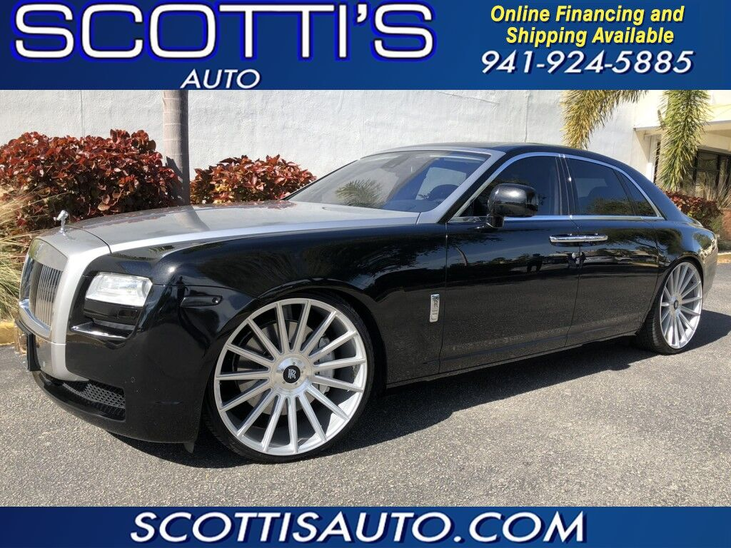 2011 Rolls-Royce Ghost GHOST SEDAN~ 24 INCH GIANELLE WHEELS~2 TONE~ BLACK LEATHER~ CLEAN CARFAX~ EXCELLENT CONDITION! ONLINE FINANCE AND SHIPPING~ APPLY TODAY@ WWW.SCOTTISAUTOSALES.COM Sarasota FL