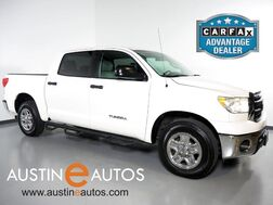 2011_Toyota_Tundra 2WD CrewMax 4.6L V8_*SR5 PACKAGE, LEATHER SEATING, CRUISE CONTROL, POWER SLIDING REAR WINDOW, BED LINER, TOW PKG_ Round Rock TX