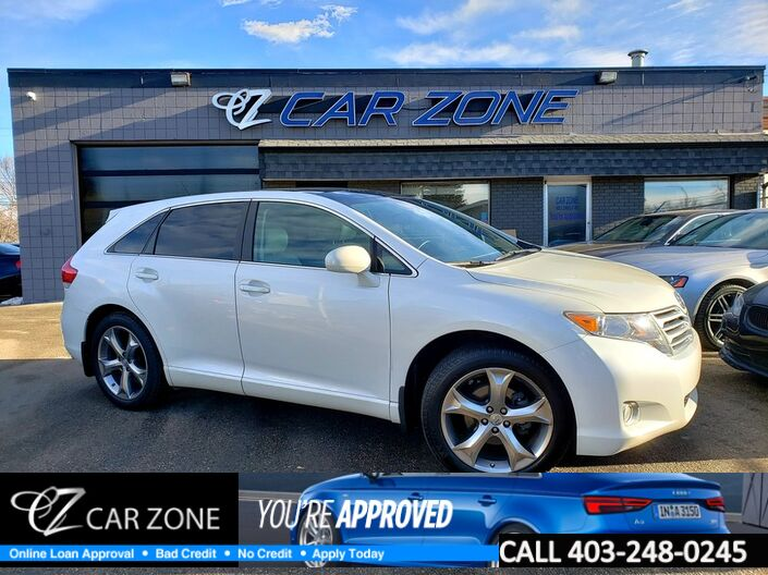 2011 Toyota Venza AWD V6 SUNROOF, LEATHER, DVDS, EASY LOANS Calgary AB