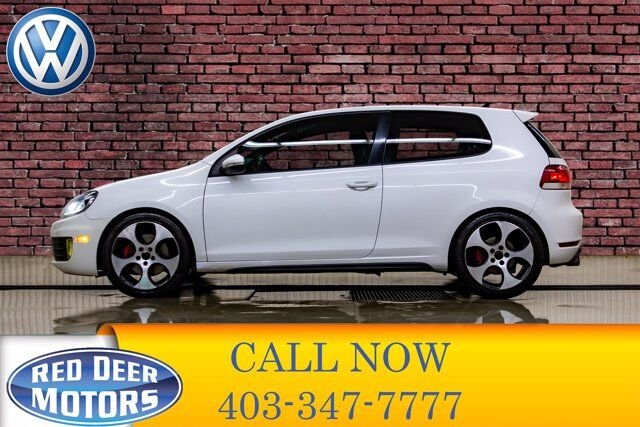 2011 Volkswagen Golf GTI 2 Door Manual Leather Roof Red Deer AB