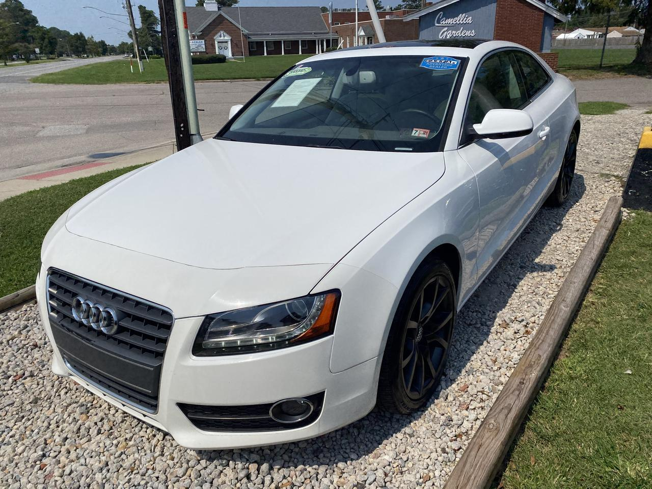 2012 AUDI A5 2.0T QUATTRO PREMIUM +, WARRANTY, LEATHER, SUNROOF, NAV, HEATED SEATS, BLUETOOTH, 1 OWNER, CLEAN! Norfolk VA