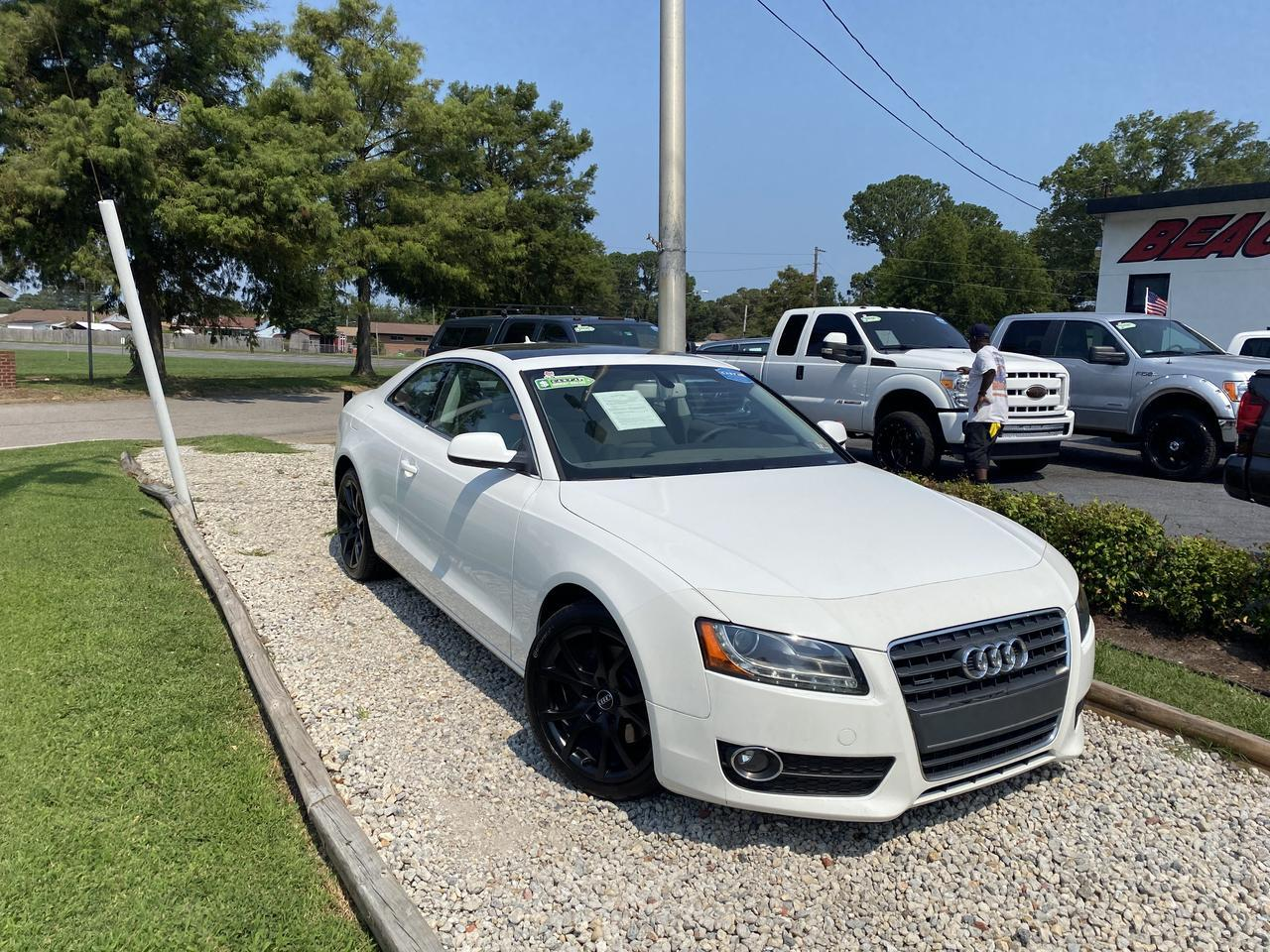 2012 AUDI A5 2.0T QUATTRO PREMIUM +, WARRANTY, LEATHER, SUNROOF, NAV, HEATED SEATS, BLUETOOTH, 1 OWNER, CLEAN!