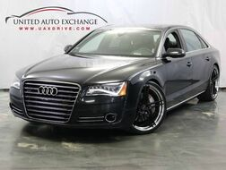 2012_Audi_A8 L_4.2L V8 Engine / AWD Quattro / Sport / Navigation / Bluetooth / Sunroof / Night Vision / Rear Power and Climate Seats_ Addison IL