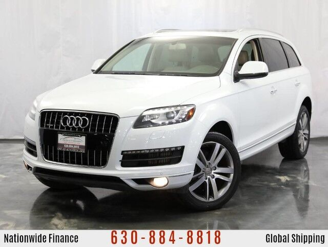 2012 Audi Q7 3.0L V6 **DIESEL** TDI Engine Quattro AWD Premium Plus w/ **3rd Row Seats** Navigation, Panoramic Sunroof, Front and Rear Parking Aid with Rear View Camera, Bose Premium Sound System, Bluetooth, Heated Leather Seats Addison IL