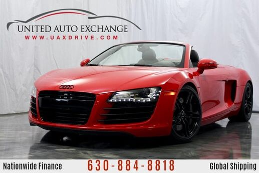 2012 Audi R8 4.2L V8 Engine AWD Quattro **CONVERTIBLE** w/ Navigation, Front and Rear Parking Aid with Rear View Camera, Bang and Olufsen Sound System, Custom Exhaust Addison IL