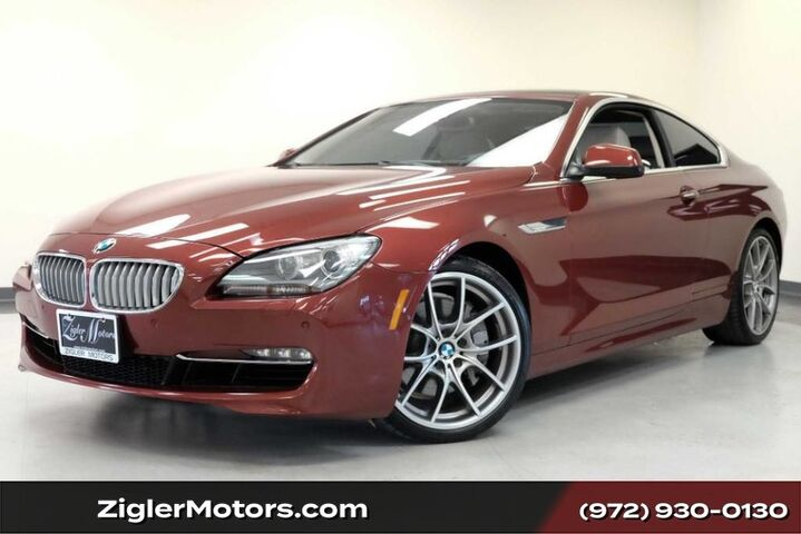 2012 BMW 6 Series 650i Coupe 34kmi Clean Carfax Heads-Up Panoramic Roof Addison TX