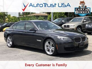 BMW 7 Series 750Li 1 OWNER CLEAN CARFAX SPORT PKG NAV BACKUP CAM SUNR 2012