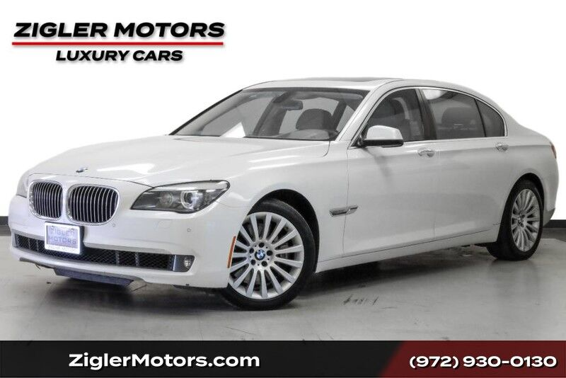 2012 BMW 7 Series 750Li Diamond White Luxury Seating Heads-Up Backup Camera