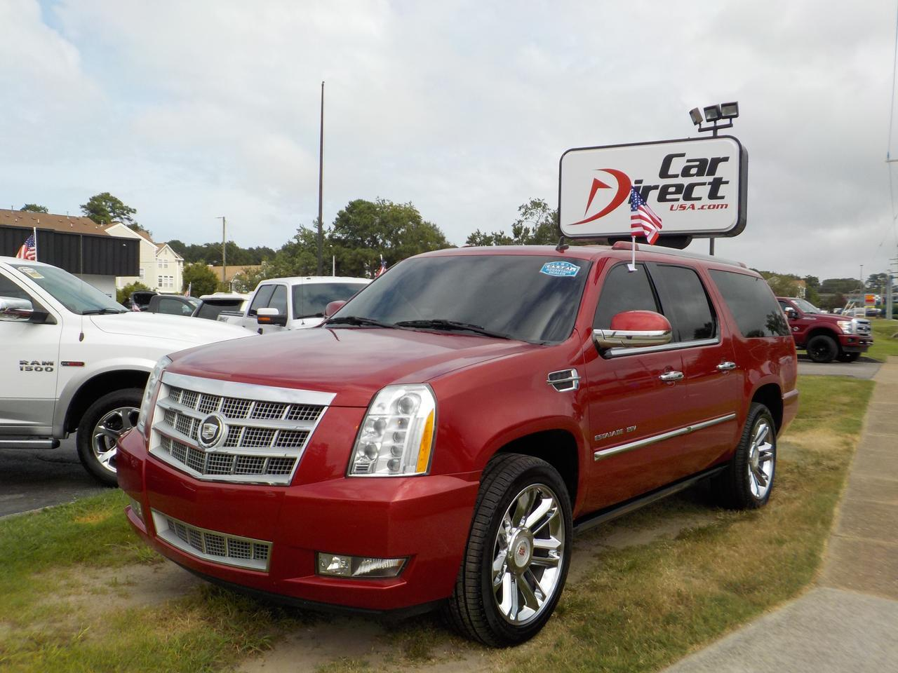 2012 CADILLAC ESCALADE ESV PLATINUM, DVD SYSTEM, SUNROOF, ROOF RACKS, HEATED & COOLED SEATS, BOSE SOUND SYSTEM, WINDOW TINT Virginia Beach VA