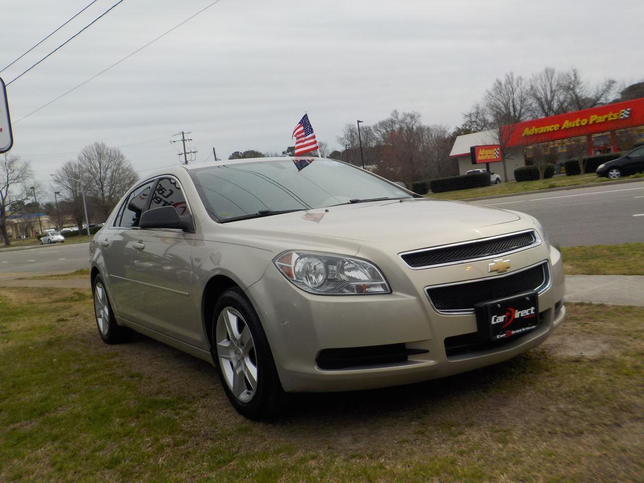 2012 CHEVROLET MALIBU LS w/1LS, BLUETOOTH WIRELESS, TINTED WINDOW, ONSTAR, KEYLESS ENTRY, CLIMATE CONTROL, AUXILIARY PORT! Virginia Beach VA