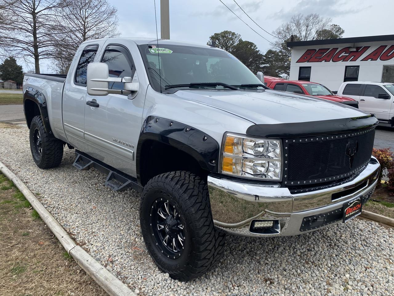 2012 CHEVROLET SILVERADO 1500 LT EXTENDED CAB 4X4, WARRANTY, AUX/USB PORT, BLUETOOTH, SIRIUS RADIO, PARKING SENSORS, CLEAN! Norfolk VA