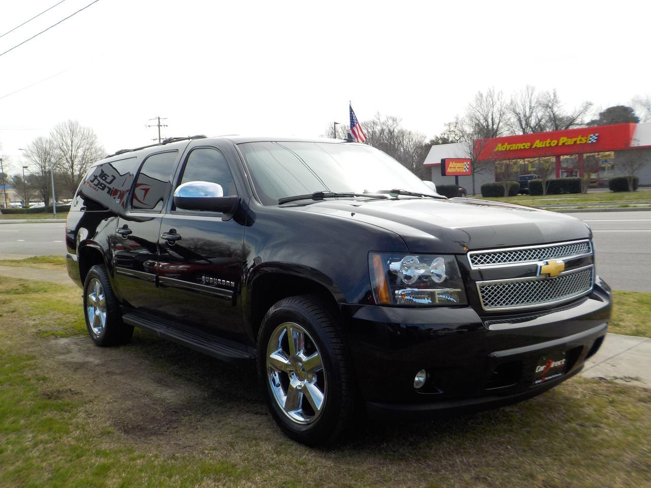 2012 CHEVROLET SUBURBAN LTZ 4X4, WARRANTY, BOSE SOUND SYSTEM, REMOTE START, ROOF RACKS, RUNNING BOARDS, TOW, 3RD ROW, ONSTAR Virginia Beach VA