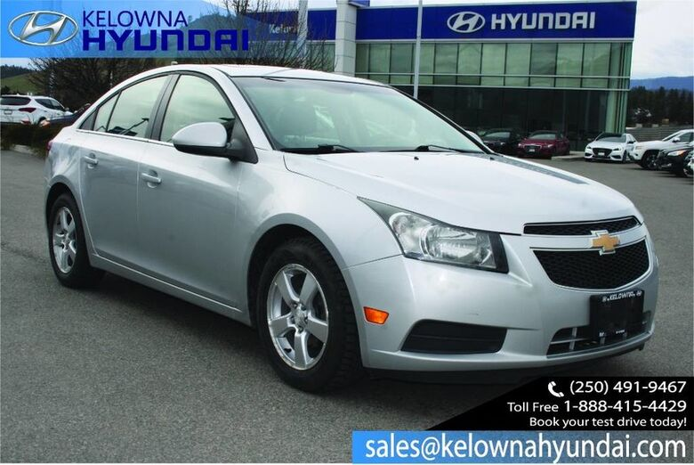2012 Chevrolet Cruze LT Turbo Remote Keyless Entry Kelowna BC