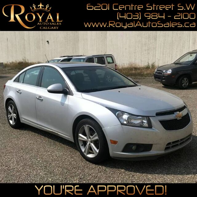 2012_Chevrolet_Cruze_LTZ Turbo w/1SA LEATHER, BLUETOOTH, SUNROOF_ Calgary AB