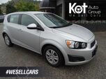 2012 Chevrolet Sonic LT Hatchback, Cruise Control, A/C, Low KM's