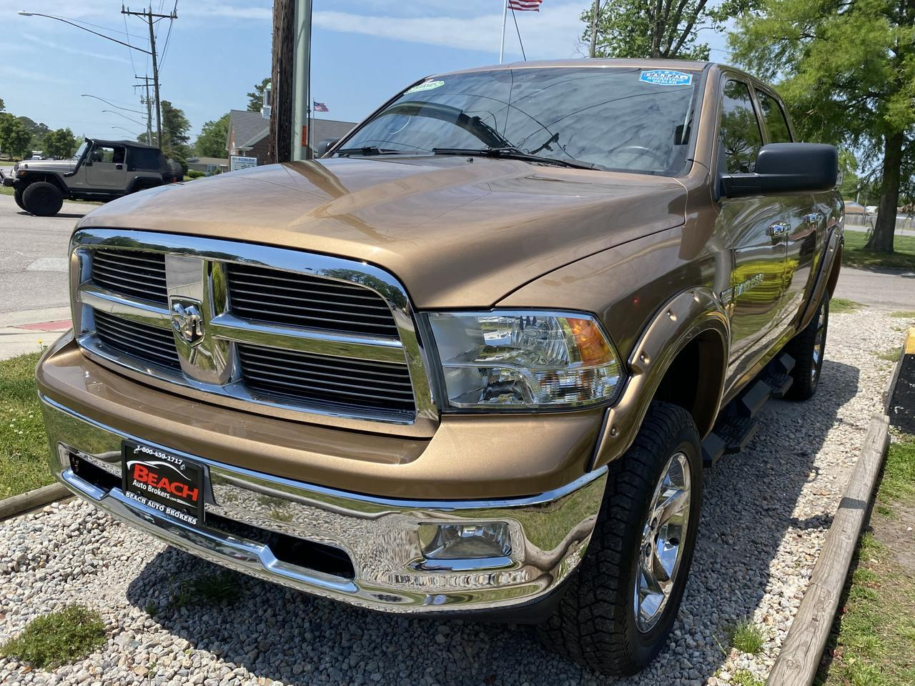 2012 DODGE RAM 1500 BIG HORN CREW CAB 4X4, WARRANTY, LEATHER, KEYLESS START, AUX PORT, RARE COLOR,CLEAN CARFAX! Norfolk VA