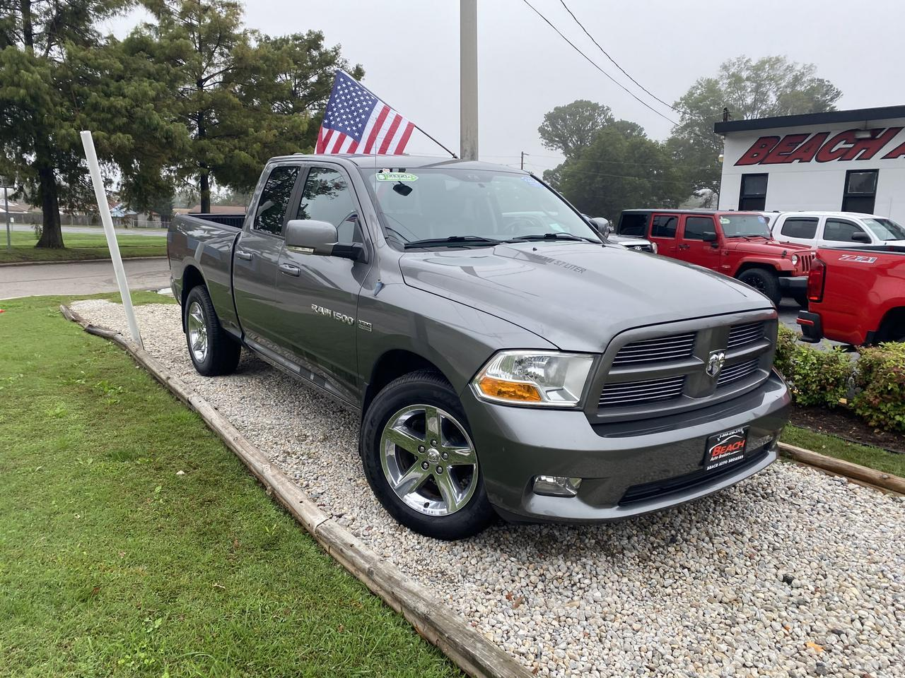 2012 DODGE RAM 1500 SPORT QUAD CAB 4X4, WARRANTY, AUX/USB PORT, SATELLITE RADIO, CLEAN CARFAX! Norfolk VA