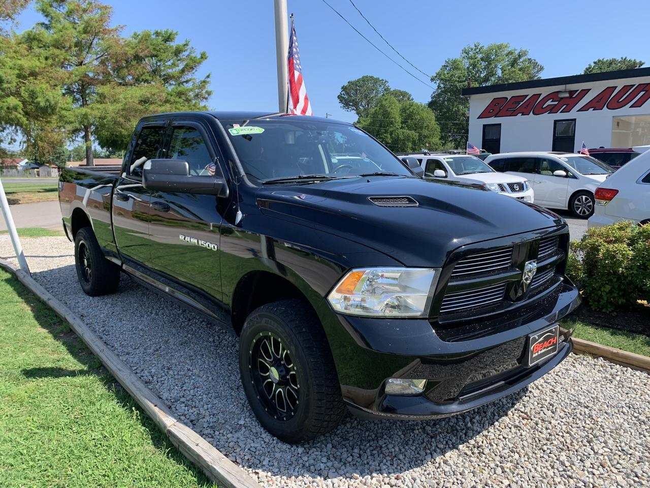 2012 DODGE RAM 1500 SPORT QUAD CAB 4X4, WARRANTY, BACKUP CAM, PARKING SENSORS, HEATED FRONT SEATS, SUNROOF! Norfolk VA
