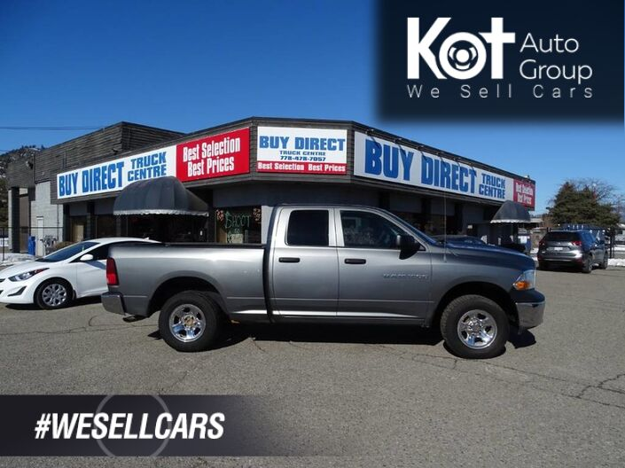 2012 Dodge Ram 1500 ST, Hitch Attachment, Cruise Control Kelowna BC