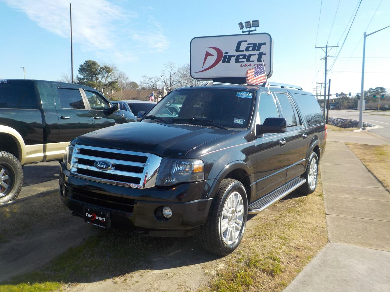 2012 FORD EXPEDITION EL LIMITED 4X4, LEATHER HEATED & COOLED SEATS, POWER LIFTGATE, BACKUP CAMERA, SUNROOF, NAVIGATION! Virginia Beach VA