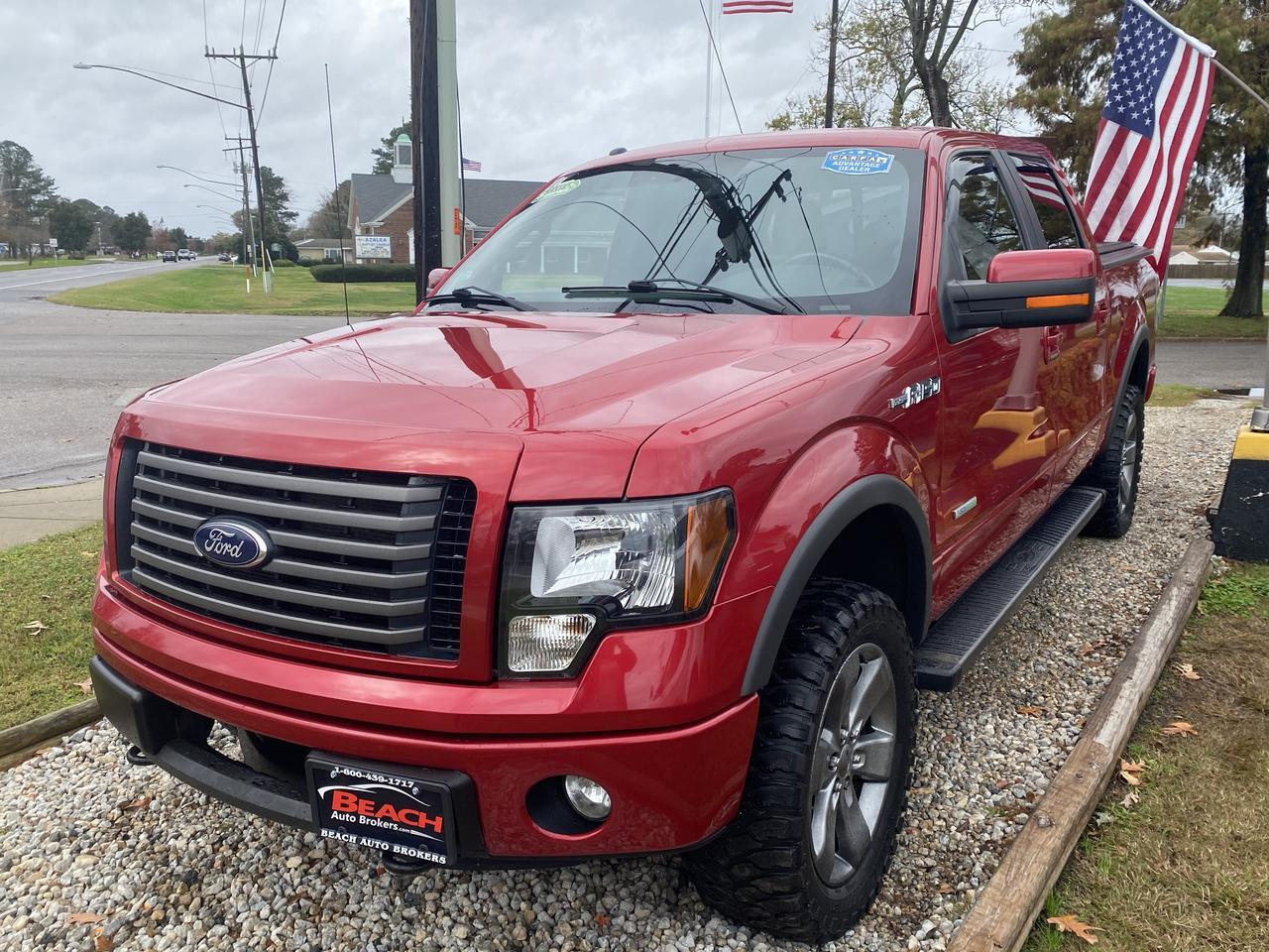 2012 FORD F-150 FX4 SUPERCREW 4X4, WARRANTY, LEATHER, BACKUP CAM, PARKING SENSORS, HEATED/COOLED SEATS, SUNROOF! Norfolk VA