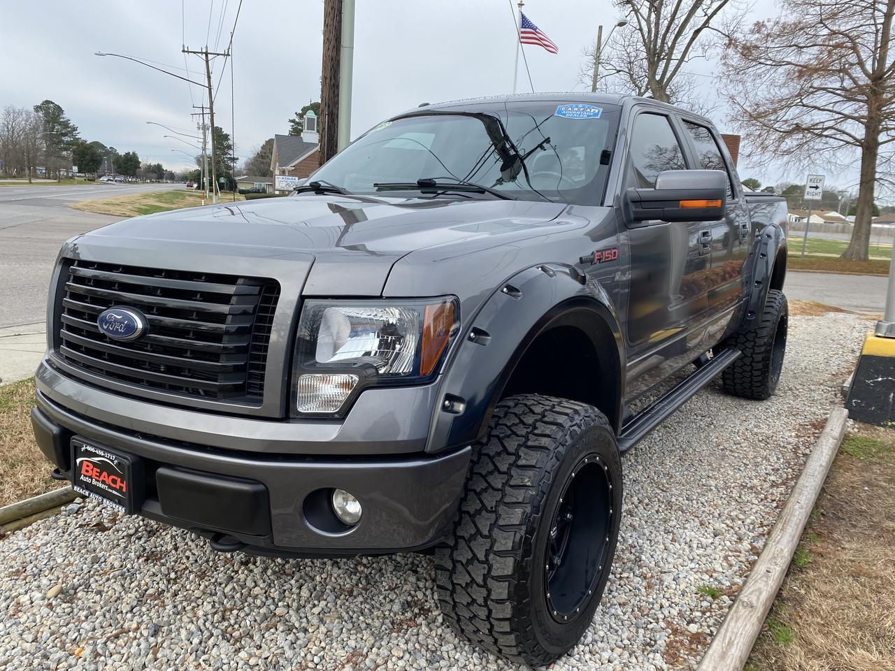 2012 FORD F-150 FX4 SUPERCREW 4X4, WARRANTY, LEATHER, NAV, SUNROOF, HEATED/COOLED SEATS, BACKUP CAM, CLEAN CARFAX! Norfolk VA