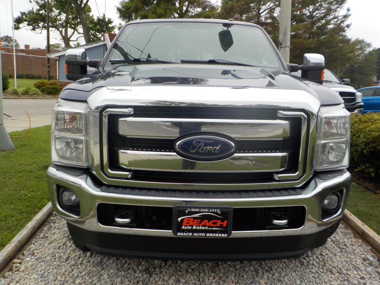 2012 FORD F-250 SUPER DUTY LARIAT CREW CAB 4X4, WARRANTY, LEATHER, HEATED/COOLED SEATS, AUX/USB PORT, SIRIUS RADIO! Norfolk VA