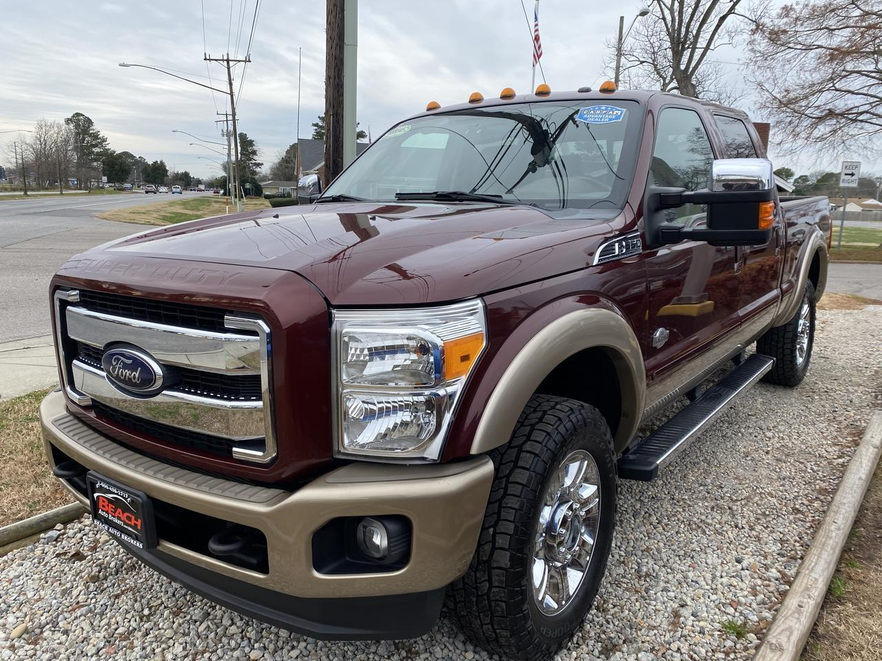 2012 FORD F-350 KING RANCH CREW CAB 4X4, WARRANTY, DIESEL, LEATHER, NAV, SUNROOF, HEATED/COOLED SEATS! Norfolk VA