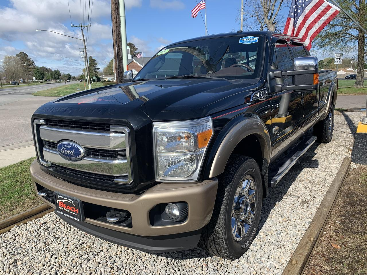 2012 FORD F-350 KING RANCH CREW CAB 4X4, WARRANTY, DIESEL, LEATHER, SUNROOF, NAV, HEATED/COOLED SEATS, CLEAN CARFAX! Norfolk VA