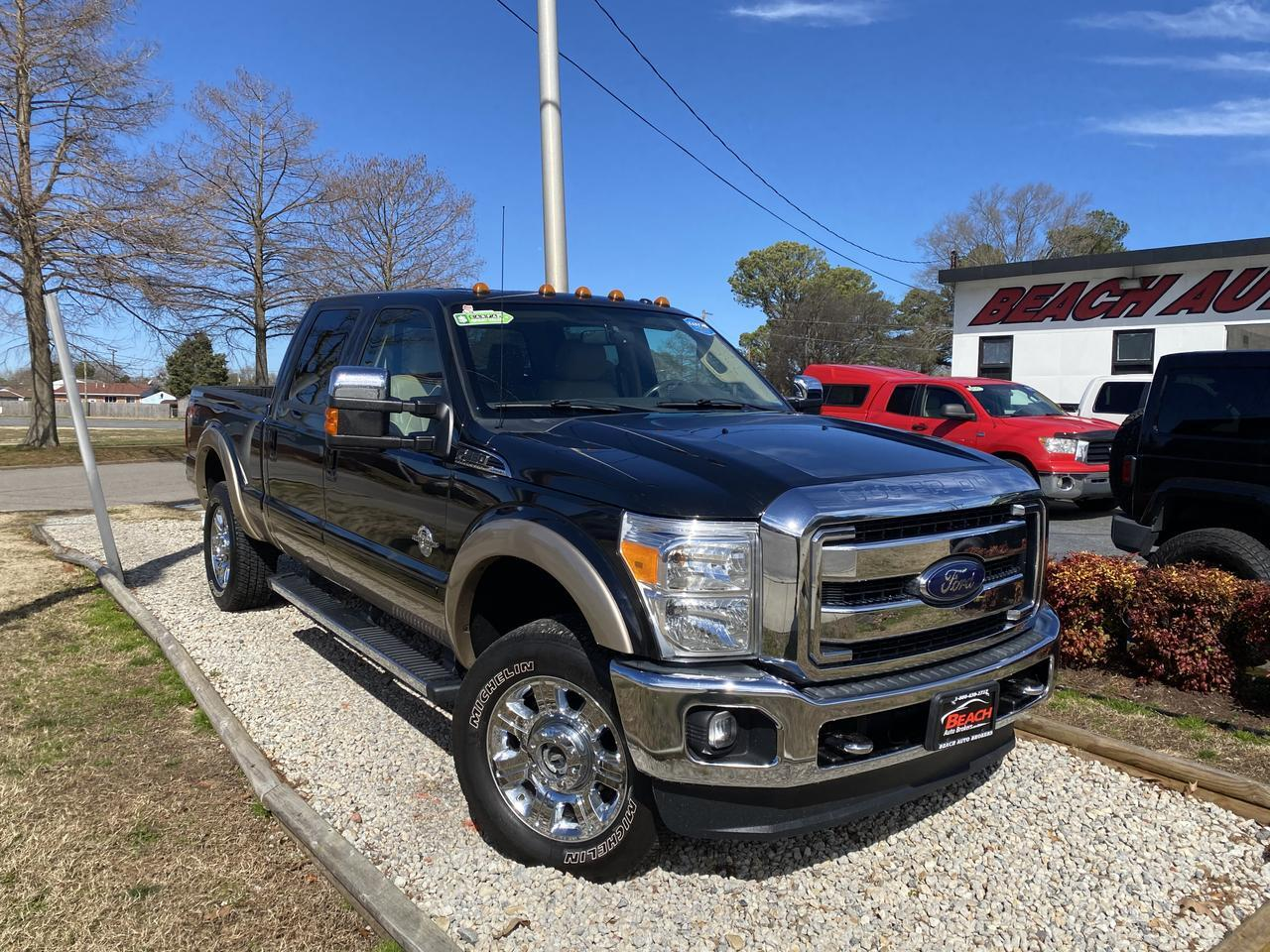 2012 FORD F-350 LARIAT CREW CAB 4X4, WARRANTY, DIESEL, LEATHER, NAV, HEATED/COOLED SEATS, BLUETOOTH,CLEAN! Norfolk VA