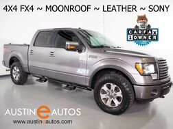 2012_Ford_F-150 4WD SuperCrew FX4_*ECOBOOST, BACKUP-CAMERA, MOONROOF, LEATHER, FRONT BUCKET CLIMATE SEATS, SONY SOUND, REMOTE START, BLUETOOTH PHONE & AUDIO_ Round Rock TX