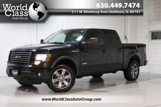 2012 Ford F-150 FX4 - AWD SUN ROOF LEATHER INTERIOR POWER ADJUSTABLE SEATS BACKUP CAMERA CREW CAB ALLOY WHEELS BED COVER Chicago IL