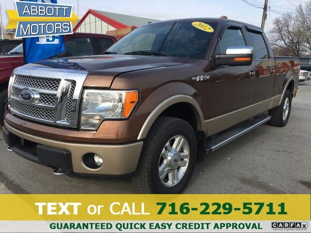 2012 Ford F-150 Lariat SuperCrew 4WD w/Hot & Cold Leather Buffalo NY