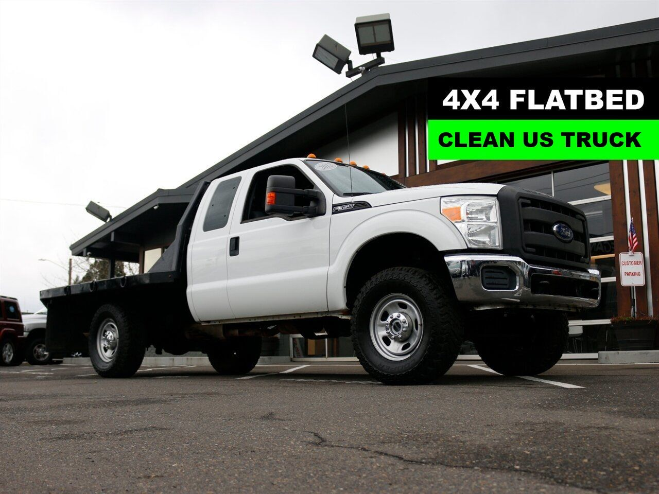 2012 Ford F-350 Super Duty / 4X4 / FLAT BED / US TRUCK