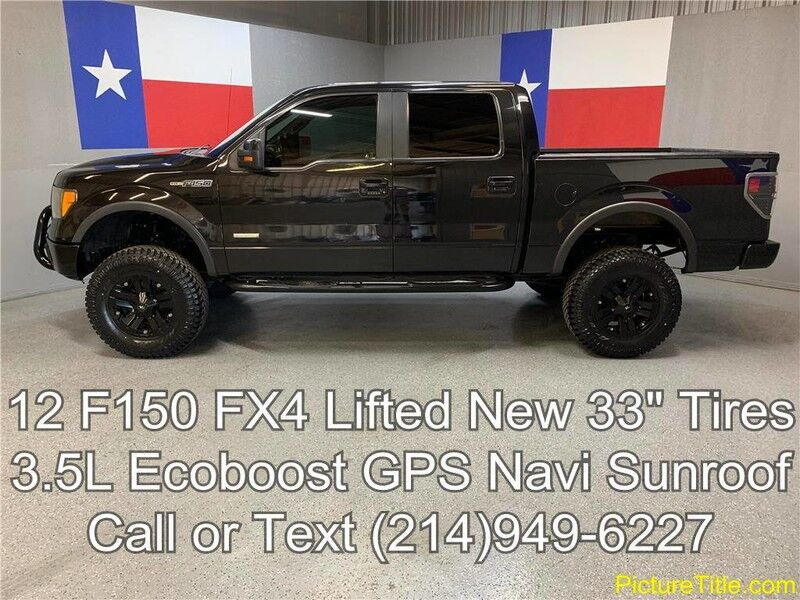 Lifted Ford F150 >> 2012 Ford F150 2012 F 150 Fx4 Lifted New 33in Tires Gps Navi Sunroof Camera