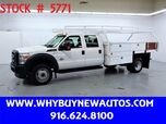 2012 Ford F550 ~ 12ft Contractor Bed ~ Diesel ~ Crew Cab ~ Only 24K Miles!