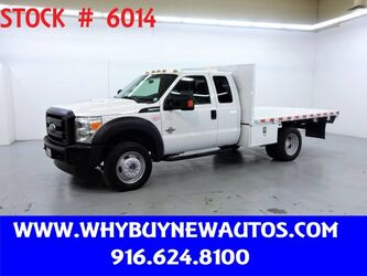 Ford F550 ~ 4x4 ~ Diesel ~ Extended Cab ~ 11ft Flatbed ~ Only 16K Miles! 2012