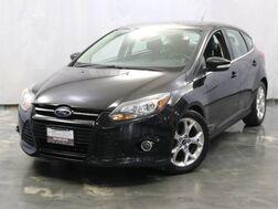 2012_Ford_Focus_Hatchback Titanium / 2.0L 4-Cyl Engine / Sunroof / Navigation / Bluetooth / Heated Leather Seats / Parking Aid Sensors / Push Start_ Addison IL