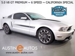 2012_Ford_Mustang GT Premium 5.0L V8_*6-SPEED MANUAL, CALIFORNIA SPECIAL, LEATHER, HEATED SEATS, SHAKER AUDIO, HID HEADLIGHTS, BLUETOOTH PHONE & AUDIO_ Round Rock TX