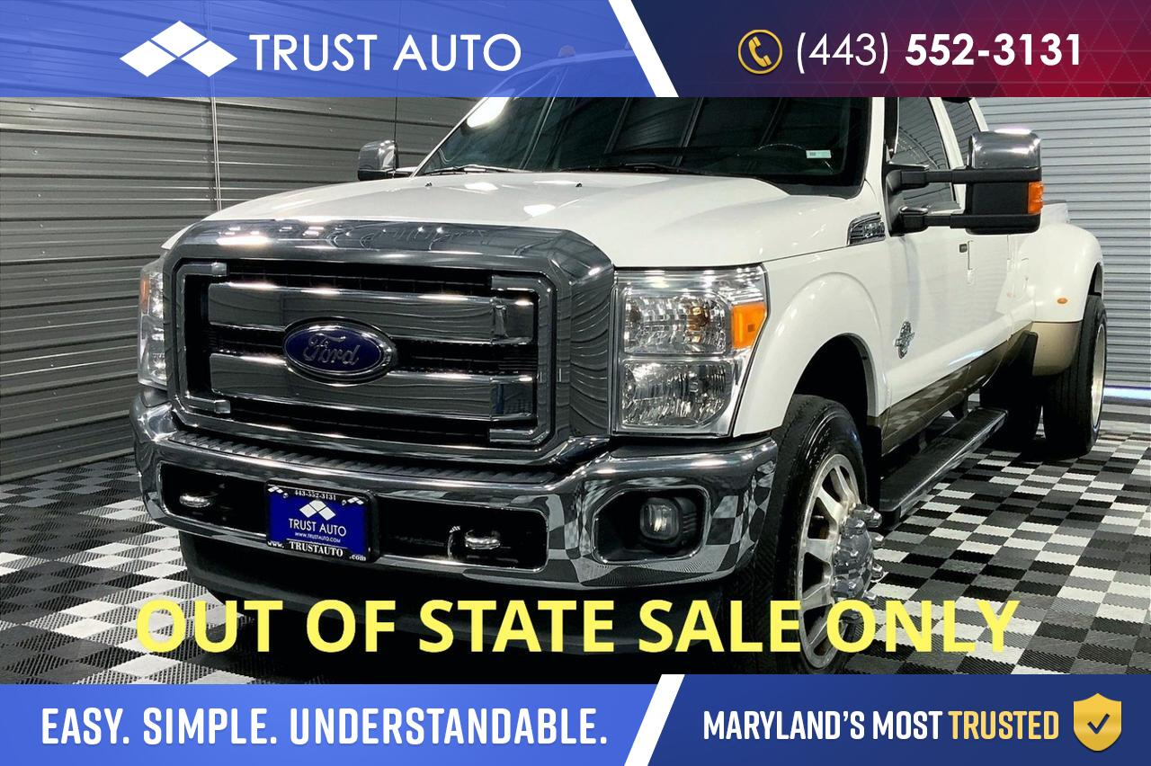 2012 Ford Super Duty F-350 DRW Lariat Crew Cab 4WD FX4 OFF Road Turbo Diesel Pickup Truck Sykesville MD
