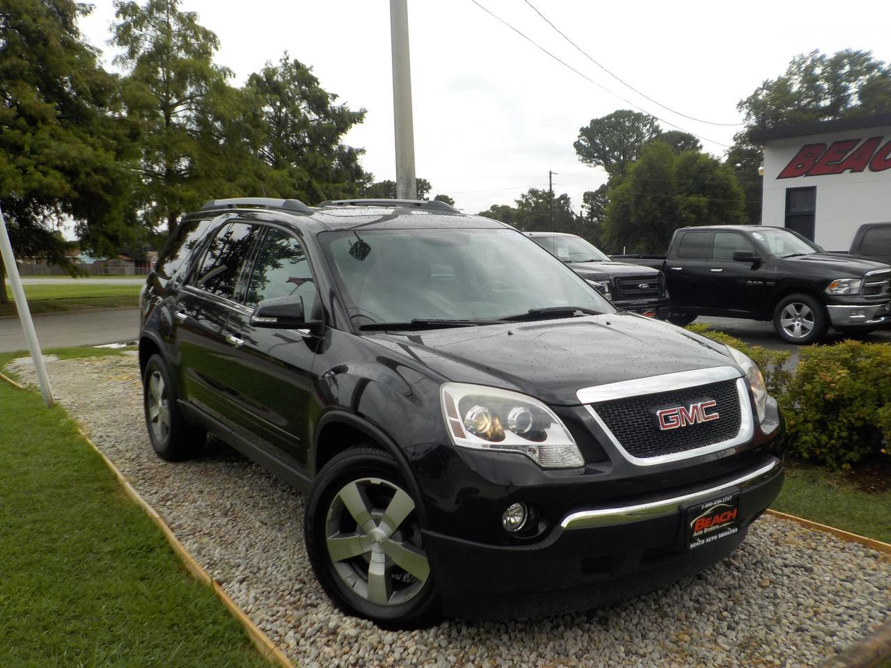 2012 GMC ACADIA SLT, WARRANTY, LEATHER, 3RD ROW, NAV, BACKUP CAM, PARKING SENSORS, BOSE SOUND, SUNROOF, 1 OWNER!